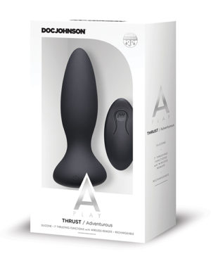 A Play Thrust Adventurous Rechargeable Silicone Anal Plug W-remote – Black