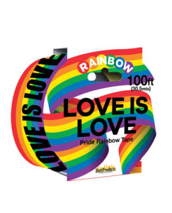 Love Is Love Rainbow Style Caution Party Tape | Buy Online at Pleasure Cartel Online Sex Toy Store