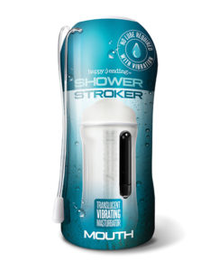 Shower Stroker Vibrating Mouth – Clear | Buy Online at Pleasure Cartel Online Sex Toy Store